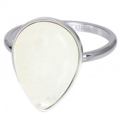 Ring Royal Stone Drop White 2 mm srebrny