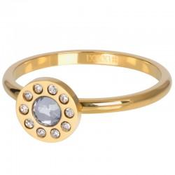 Ring Diamond Circle 2 mm złoty