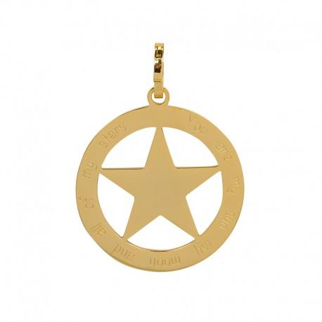 Zawieszka duża gwiazda złota