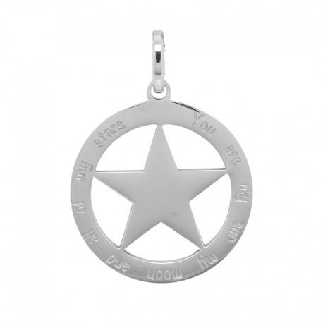 Zawieszka duża gwiazda srebrna