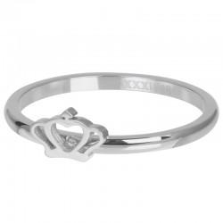 Ring Royal Crown 2 mm srebrny