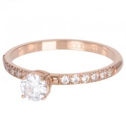 Ring Queen 2 mm różowe złoto