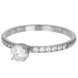 Ring Queen 2 mm srebrny