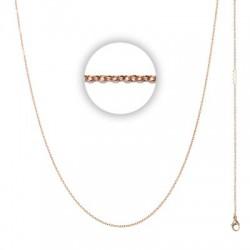 Łańcuszek cienki 60 cm różowe złoto