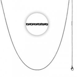 Łańcuszek cienki 60 cm czarny