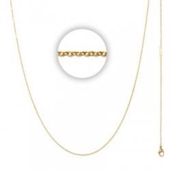 Łańcuszek cienki 80 cm złoty