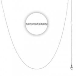 Łańcuszek cienki 80 cm srebrny