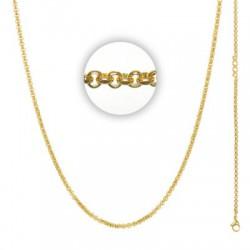 Łańcuszek gruby 80 cm złoty