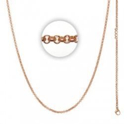 Łańcuszek gruby 80 cm różowe złoto