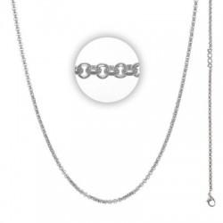 Łańcuszek gruby 80 cm srebrny