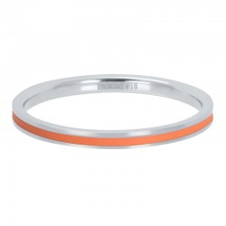 Ring koralowa linia 2 mm srebrny