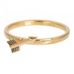 Ring symbol strzała 2 mm złoty