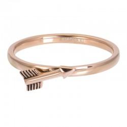 Ring symbol strzała 2 mm różowe złoto