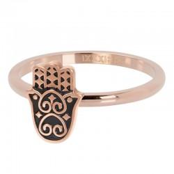 Ring Boho Fatimka 2 mm różowe złoto