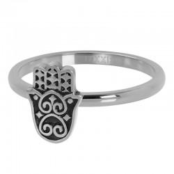 Ring Boho Fatimka 2 mm srebrny
