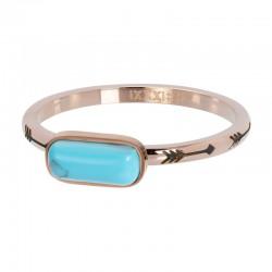 Ring Inspired Turquoise 2 mm różowe złoto
