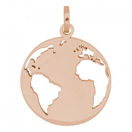 Zawieszka średnia świat różowe złoto