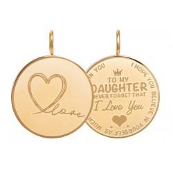 Zawieszka średnia Love Daughter duża złota