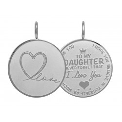 Zawieszka średnia Love Daughter duża srebrna
