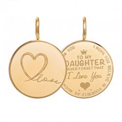 Zawieszka średnia Love Daughter mała złota