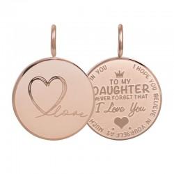 Zawieszka średnia Love Daughter mała różowe złoto