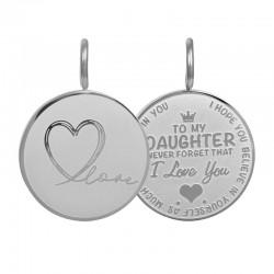 Zawieszka średnia Love Daughter mała srebrna