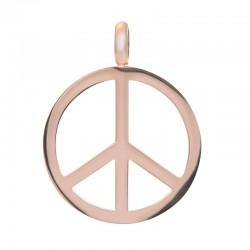 Zawieszka średnia peace różowe złoto