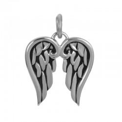 Zawieszka średnia skrzydełka srebrna