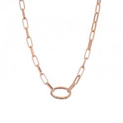Łańcuch 50 cm różowe złoto