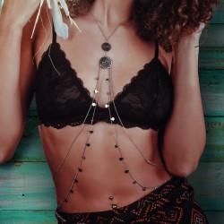 Body chain srebrny