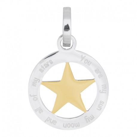 Zawieszka średnia gwiazda srebrno-złota