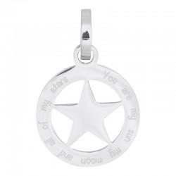 Zawieszka średnia gwiazda srebrna