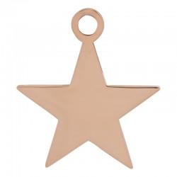 Zawieszka mała gwiazda różowe złoto