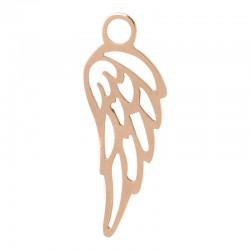 Zawieszka mała skrzydełko różowe złoto