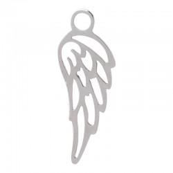 Zawieszka mała skrzydełko srebrne