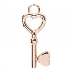 Zawieszka mała kluczyk różowe złoto