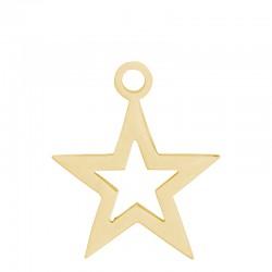 Zawieszka mała otwarta gwiazda złota