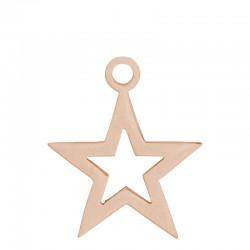 Zawieszka mała otwarta gwiazda różowe złoto
