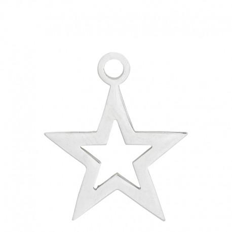 Zawieszka mała otwarta gwiazda srebrna