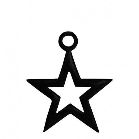 Zawieszka otwarta gwiazda czarna
