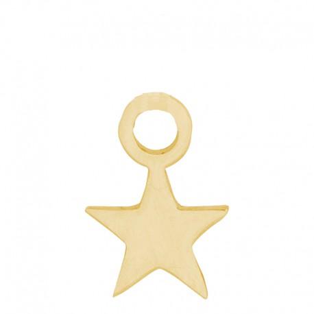 Zawieszka mała gwiazdka złota