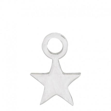Zawieszka mała gwiazdka srebrna