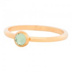 Ring kryształ oliwka 2 mm złoty