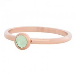 Ring kryształ oliwka 2 mm różowe złoto