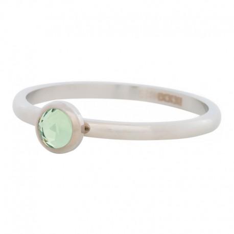 Ring kryształ oliwka 2 mm srebrny