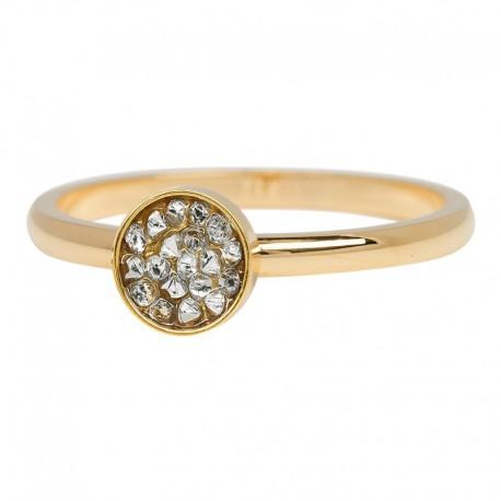 Ring kielich z kamieniami 2 mm złoty