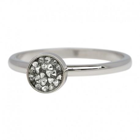 Ring kielich z kamieniami 2 mm srebrny