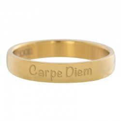 Ring Carpe Diem złoty