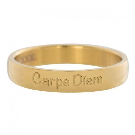 Ring Carpe Diem złoty