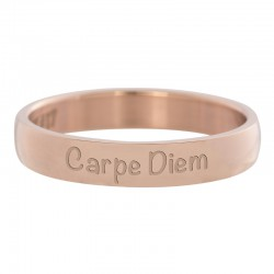 Ring Carpe Diem różowe złoto